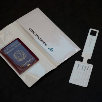porta billetes de viaje